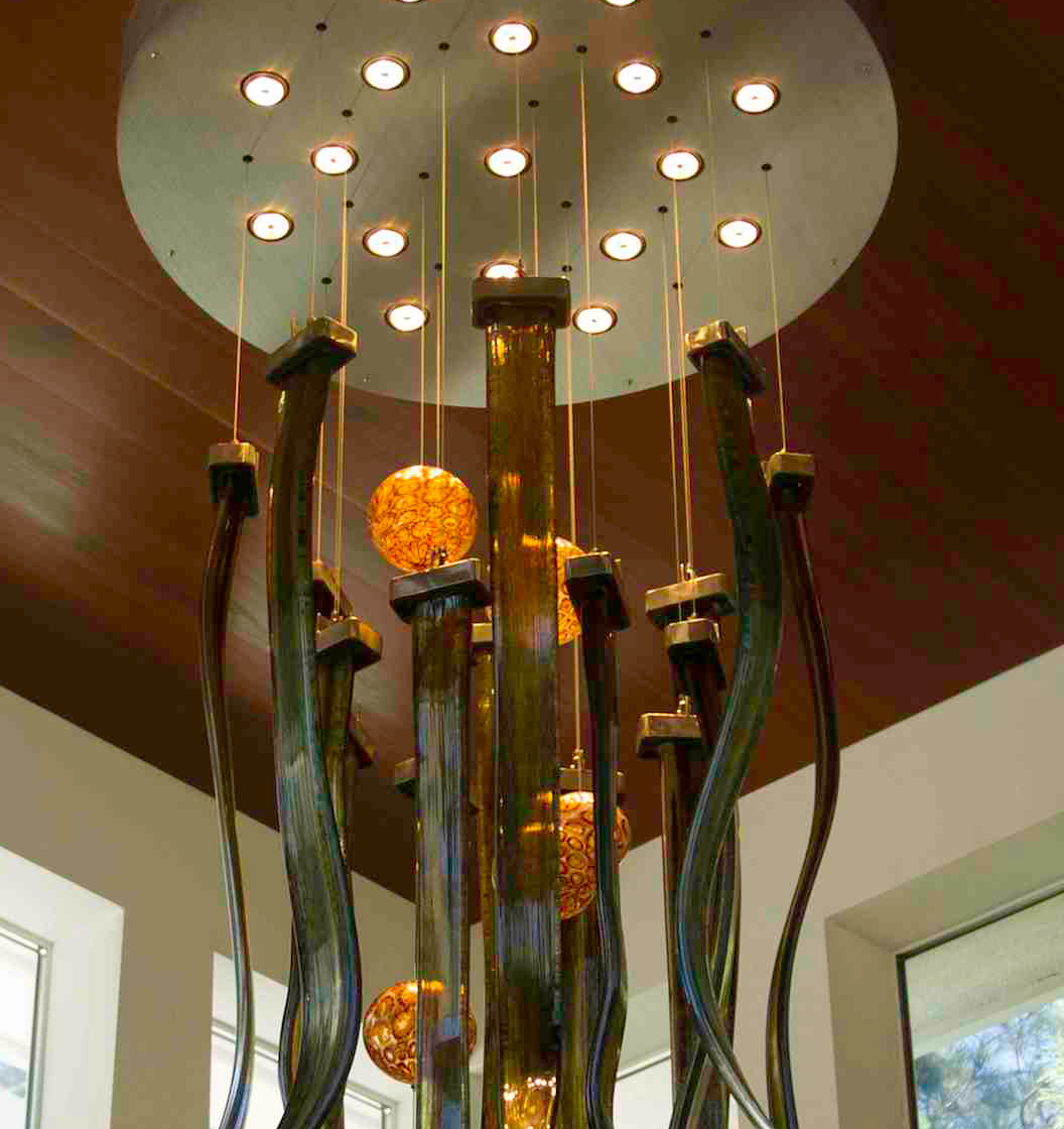 Tide Pool Green Hanging Custom Chandelier