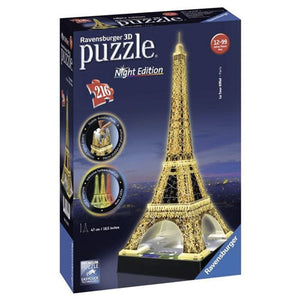 PUZZLE 3D 216PZ NIGHT EDITION - TOUR EIFFEL