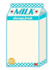 SOMETHING TO REMEMBER MAGNET BOARD - MILK SHAPE