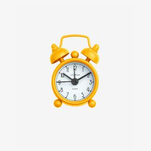 MINI TICK TOCK ALLARM CLOCK - YELLOW