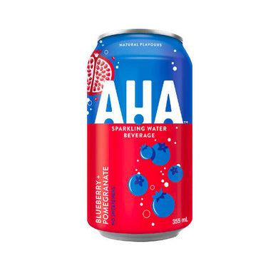 AHA SPARKLING WATER BLUEBERRY + POMEGRANATE