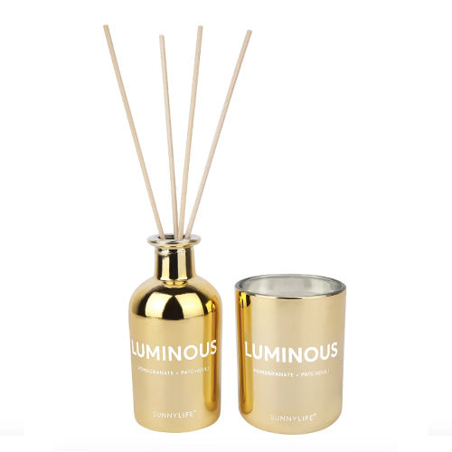 CANDLE & DIFFUSER SET LUMINOUS POMEGRANATE & PATCHOULI