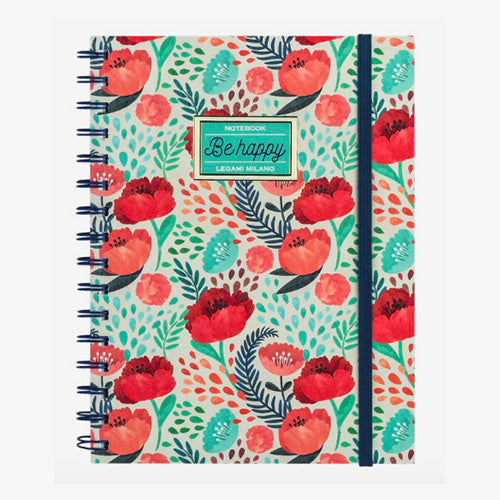 NOTEBOOK WITH SPIRAL A5 FLOWER