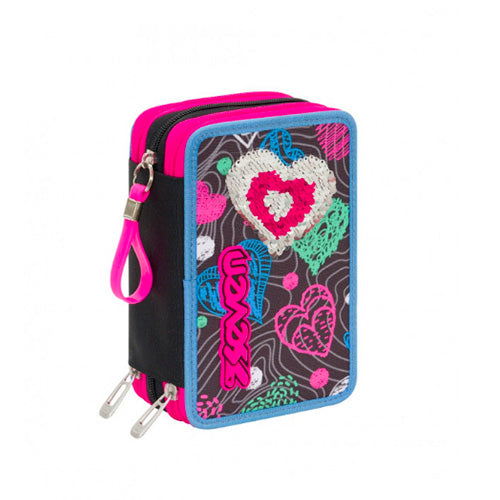 ASTUCCIO 3 ZIP SHINE HEART