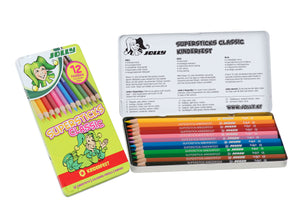 12 PASTELLI CLASSIC SUPERSTICKS