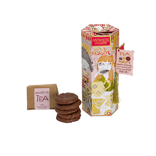TEA & BISCUITS - DARJEELING TEA & MILK CHOCOLATE CRANBERRY BISCUITS