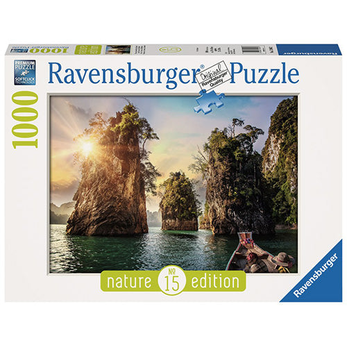 PUZZLE 1000PZ NATURE EDITION - N°15 ROCCE DI CHEOW LAN, THAILANDIA