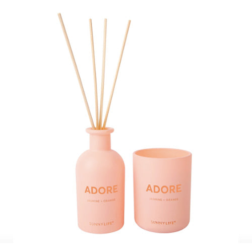 CANDLE & DIFFUSER SET ADORE JASMINE & ORANGE