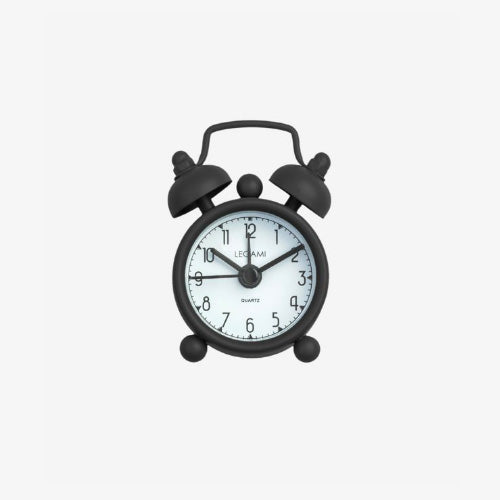 MINI TICK TOCK ALLARM CLOCK - BLACK