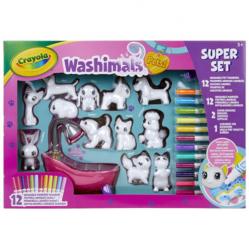 CRAYOLA WASHIMALS SUPER SET