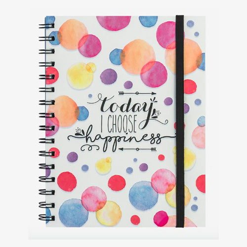 NOTEBOOK WITH SPIRAL A5 HAPPINESS
