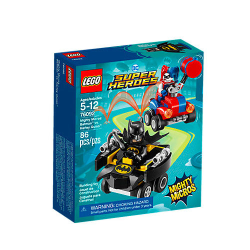 MIGHTY MICROS: BATMAN VS HARLEY QUINN SUPER HEROES 76092