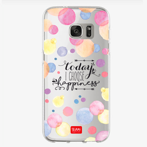 COVER CLEAR SAMSUNG S7 EDGE - HAPPINESS