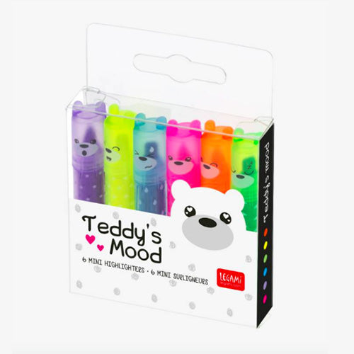 TEDDY'S MOOD - SET DI 6 MINI EVIDENZIATORI