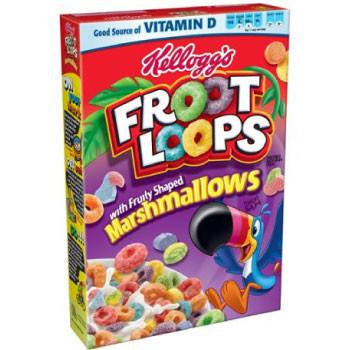KELLOG'S FROOT LOOPS CEREALI CON MARSHMALLOWS