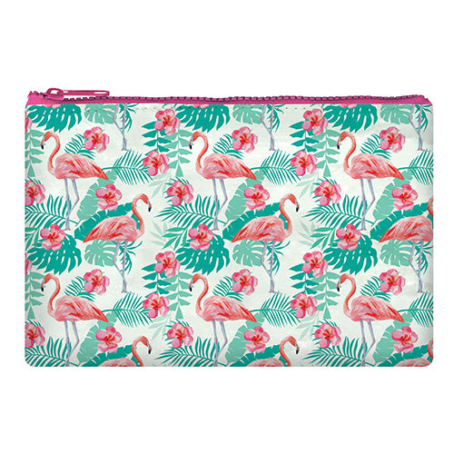 ZIPPER POUCH FUNKY COLLECTION FLAMINGO - FENICOTTERO