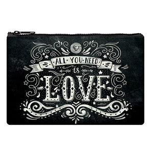 ZIPPER POUCH FUNKY COLLECTION - LOVE