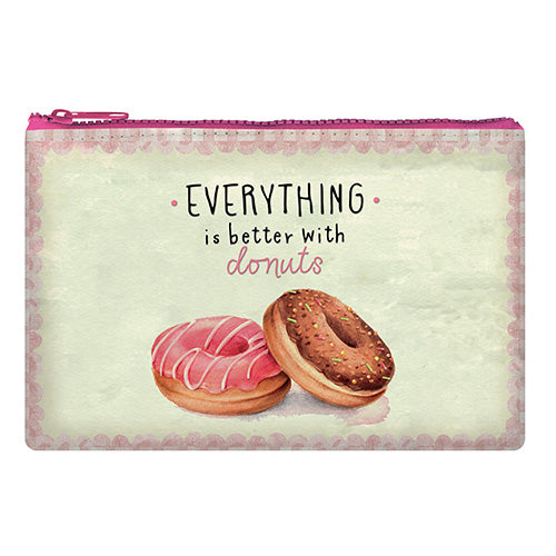 ZIPPER POUCH FUNKY COLLECTION - DONUTS