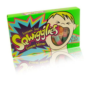 SQWIGGLIES SCREAMIN' SOUR GUMMI WORMS