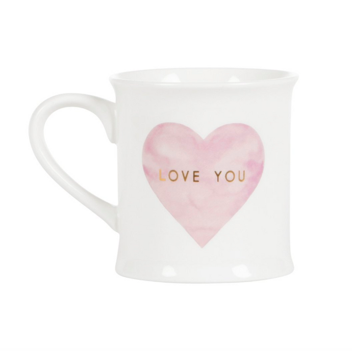LOVE YOU PASTEL PINK HEART MUG - TAZZA CUORE