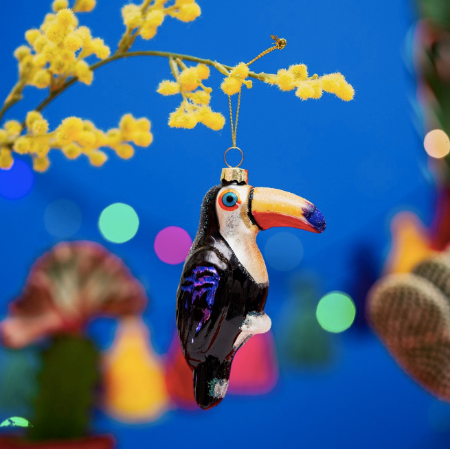 DECORAZIONE ALBERO NATALE TUCANO - TOUCAN DECORATION