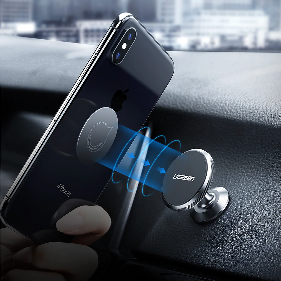uk availability 528e2 216cf Universal Magnetic Cell Phone Holder Mount For Car With 360° Rotation