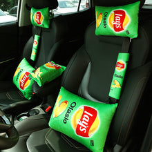 Lays Headrest Pillow/Tissue cover/seat belt