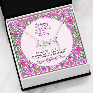 Mother's Day Scripted Love Necklace (w/ Funny Message)