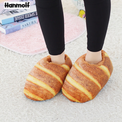 Baked Bread Plush Slippers
