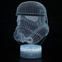 3D Effect Star wars Night lamp