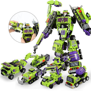 6in1 Mecha Bot Excavator Transformers Construction Bots (709pcs)