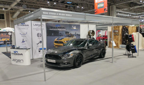 Steeda UK & Velgen stand at Autosport 2018