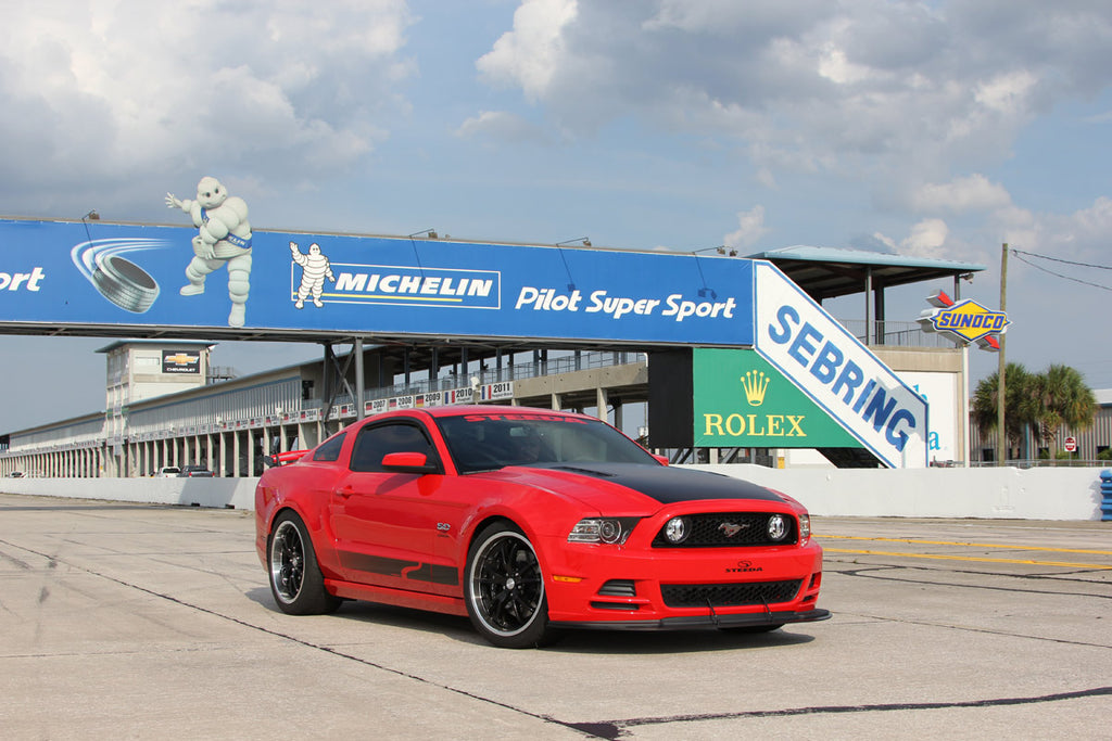 Steeda S197 Mustang and Michelin Banner on track