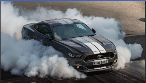 Owen burnout smoke screen Mustang GT