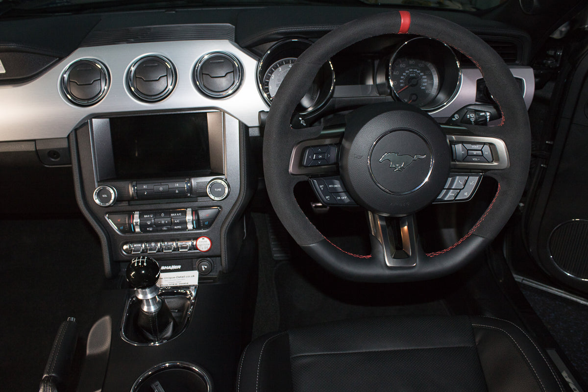 Interior styling and parts for performance Ford cars, including Mustang GT V8 and Ecoboost as well as Focus RS and Focus ST