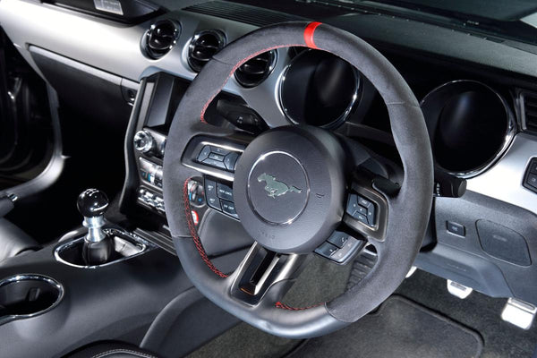 Q500 enforcer GT350 steering wheel and steeda cue ball shift knob