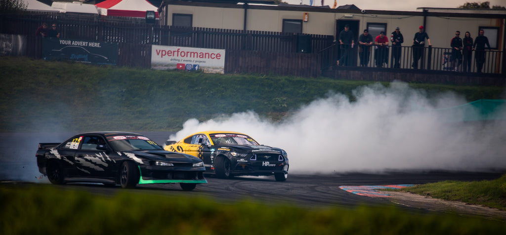 Steeda CAF Drift Mustang at Driftland Drift Cup 2019 competition run max angle Europe