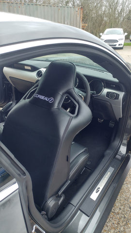 Corbeau Seats for Mustang GT in Steeda Q500 Enforcer