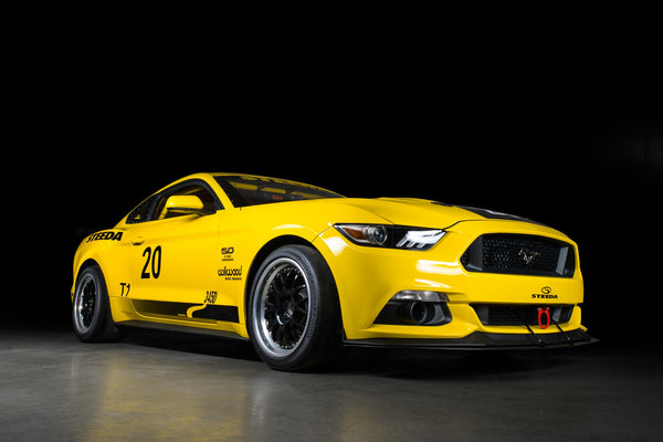 Steeda Q500R GT Mustang track racer number 20 Champions in 2018