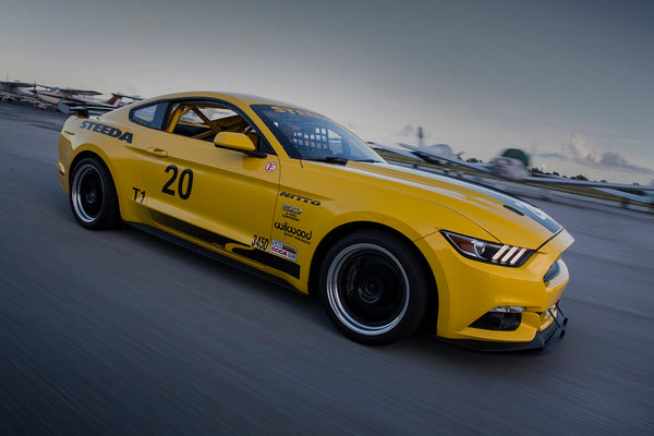 Steeda Q500R rolling shot of our number 20 championship winning race GT Mustang
