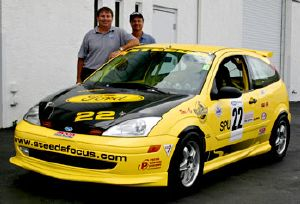 Dario with mk1 Focus Steeda Race Car