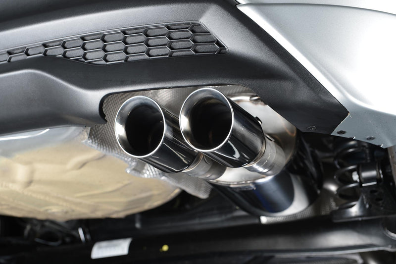 Milltek Catback Exhaust Polished Tips for MK8 Fiesta 1.0
