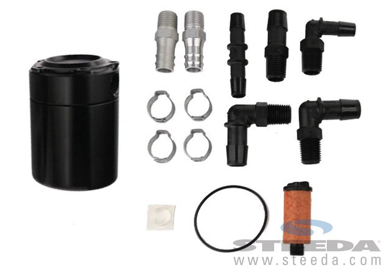 Steeda S550 Mustang Black Billet Oil Separator (GT)