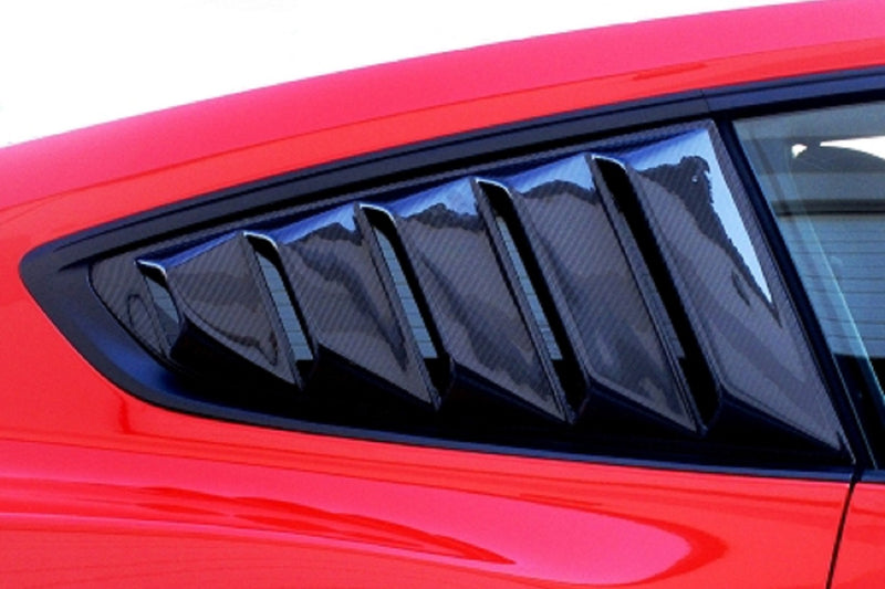 Steeda S550 Mustang Carbon Window Louvres