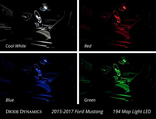 Diode Dynamics S550 Mustang Interior LED Conversion Kit