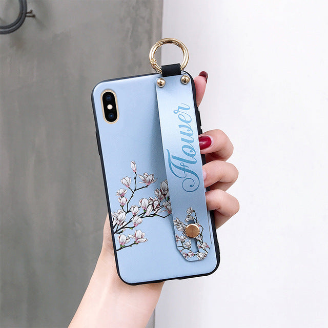 BABY BLUE FlOWER CASE WALLET