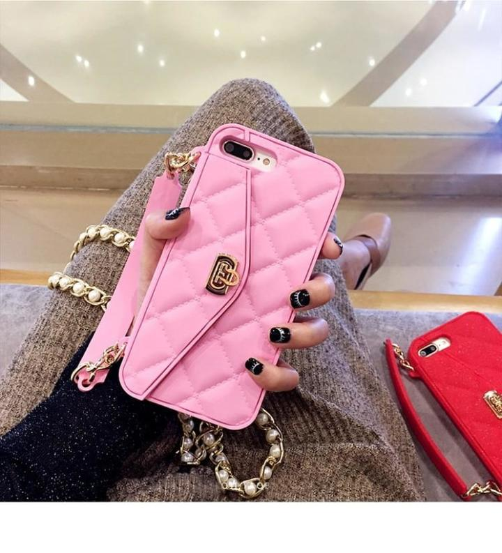 DIAMOND FASHION PURSE PINK (SILICONE)