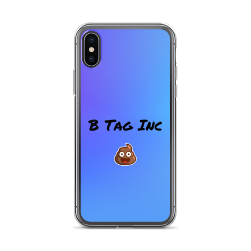 B Tag Inc Poop Emoji iPhone Case