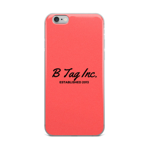 Red Signature iPhone Case