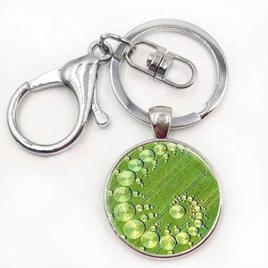 Crop Circle Necklace / Glass Photo Pendant